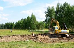 Начало строительства дома на участке №40