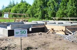 Строительство дома на участке №50