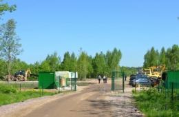 Въезд в коттеджный комплекс, Установлена охрана периметра