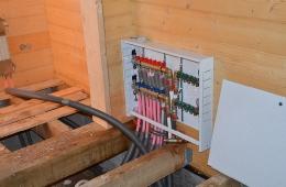 Разводка внутренних инженерных коммуникаций в доме на участке №50