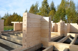 Строительство дома на участке №57